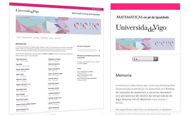 Presentamos la web de Matemáticas en pie de Igualdad
